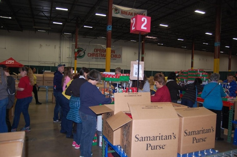 Operation Christmas Child Uses The Building To Receive Process And Ship Shoebox Gifts Children In Need Thousands Of Volunteers From Across Country