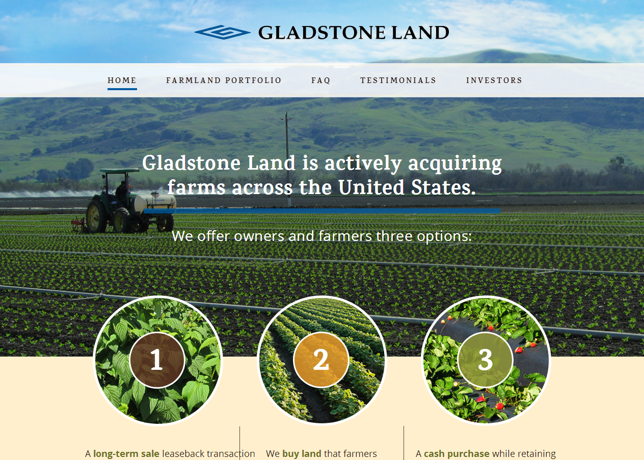 citybizlist : Citybizlist : Gladstone Land Acquires Vegetable Farm